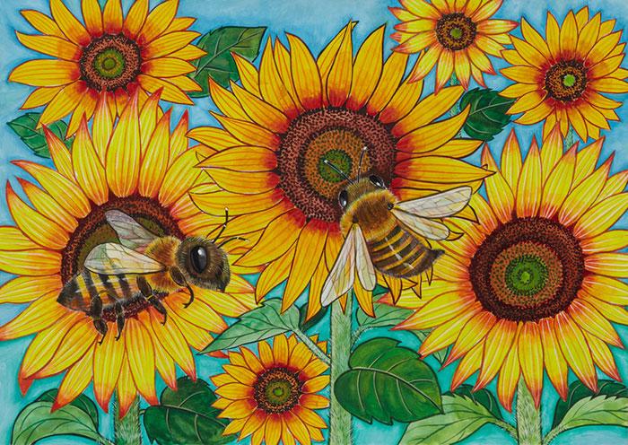 結果発表|ミツバチの一枚画 ... : 夏休みの絵小学生 : 夏休み