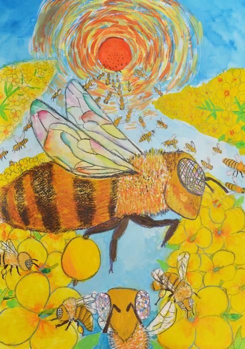 健康食品、化粧品、はちみつ・自然食品の山田養蜂場。「ひとりの人の健康」のために大切な自然からの贈り物をお届けいたします。第4回ミツバチの一枚画コンクール結果発表